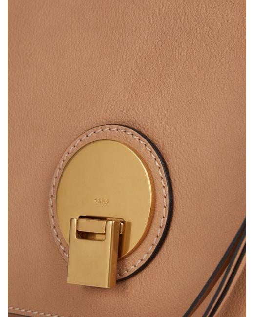 chloe fakes - Chlo�� Indy Medium Leather Shoulder Bag in Brown (BEIGE) | Lyst