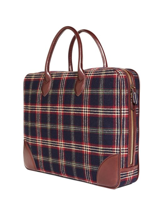 Brooks Brothers | Blue Signature Tartan Briefcase for Men | Lyst