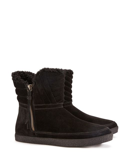 Tory Burch | Black Loriner Shearling Bootie | Lyst