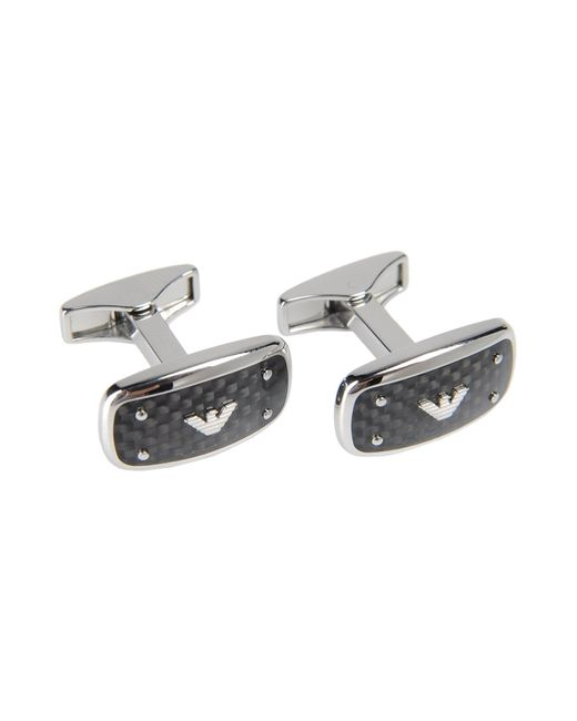 Emporio Armani | Metallic Cufflinks And Tie Clips for Men | Lyst