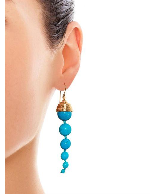 Aurelie Bidermann | Blue Lakotas Gold-plated Turquoise Earrings | Lyst