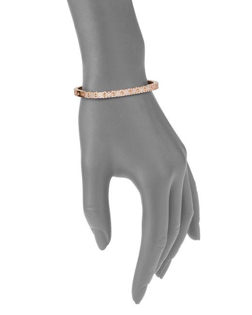 Roberto Coin | Metallic Pois Moi Pave Diamond & 18k Rose Gold Single-row Bangle Bracelet | Lyst