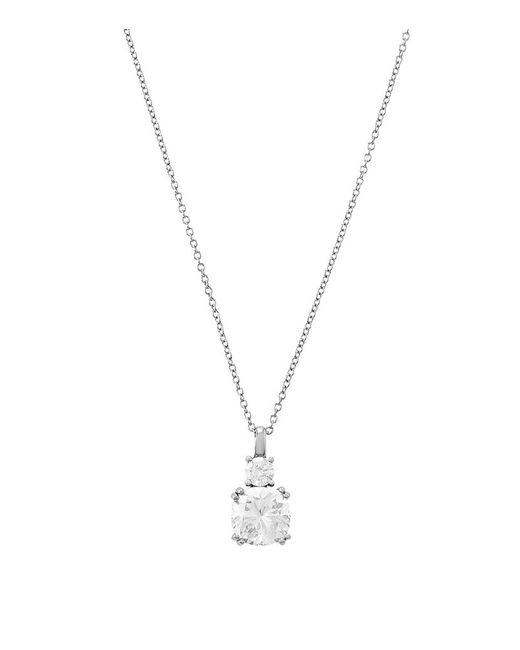 Carat* | Metallic 3ct Drop Diamond Necklace | Lyst