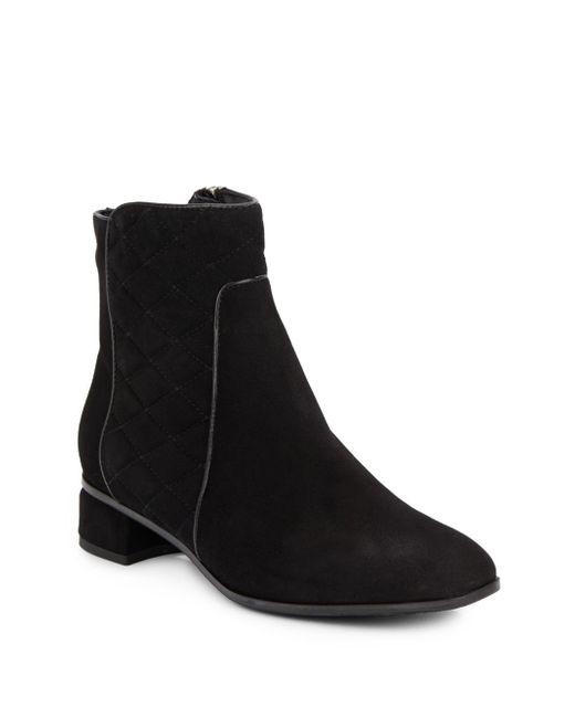 Aquatalia | Black Latifa Suede Ankle Boots | Lyst