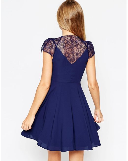 ASOS | Pink Kate Lace Mini Dress | Lyst