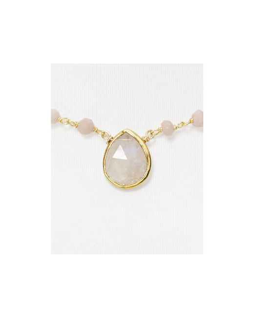 "Ela Rae | Pink Beaded Opal Necklace, 14"" | Lyst"