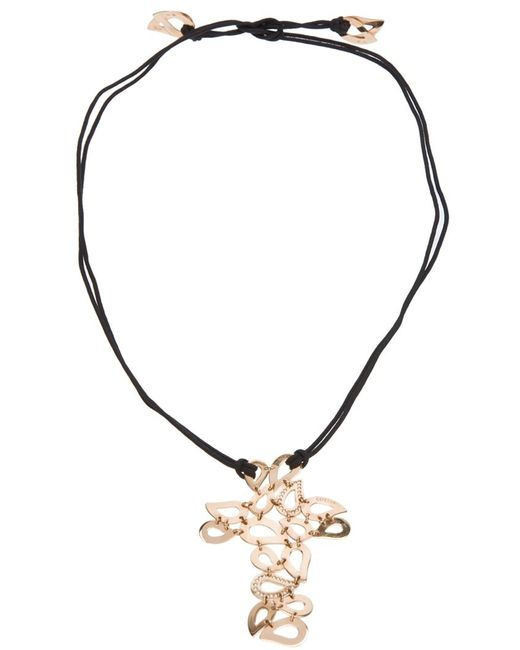 Gavello   Black Tear Drop Crucifix Necklace   Lyst