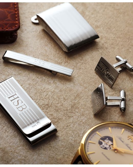 Brooks Brothers | Metallic Engine-Turned Cuff Links for Men | Lyst
