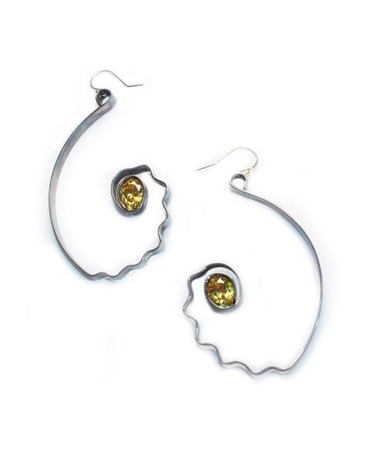 Sibilla G Jewelry | Gray Sibilla G Citrine Impulse Earrings | Lyst