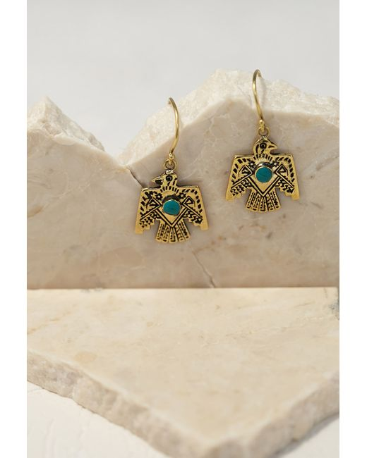 Forever 21 | Blue Emerald Duv Thunderbird Earrings | Lyst