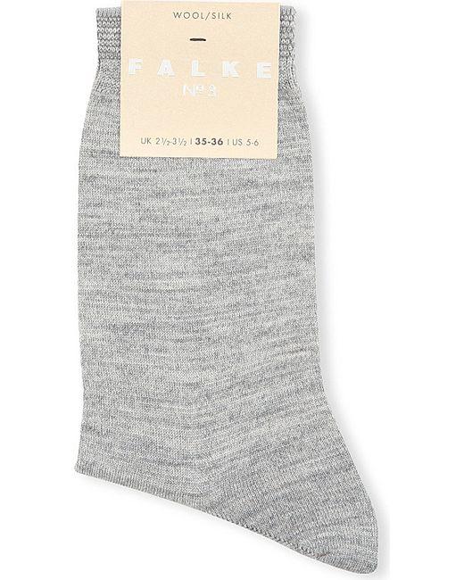 Falke | Gray No 3 Wool-silk Socks | Lyst