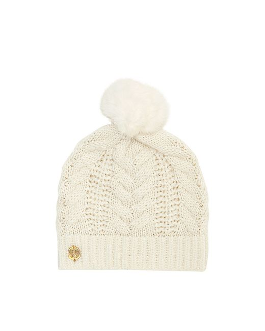 Vince Camuto | Natural Cable-knit Pom Hat | Lyst