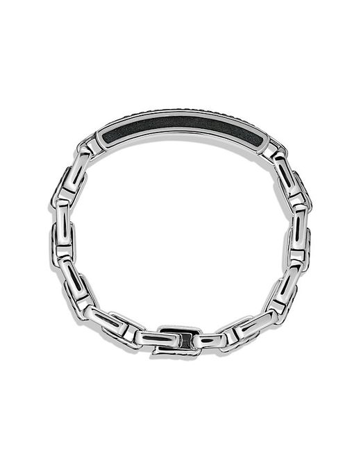 David Yurman | Modern Cable Id Bracelet With Black Diamonds for Men | Lyst