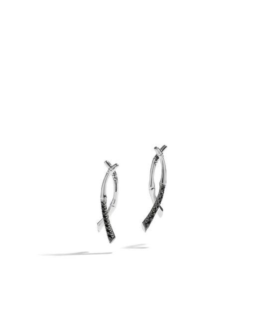 John Hardy | Drop Earring With Black Sapphire | Lyst