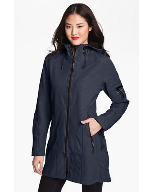 Ilse Jacobsen rain 7 Hooded Water Resistant Coat In Blue