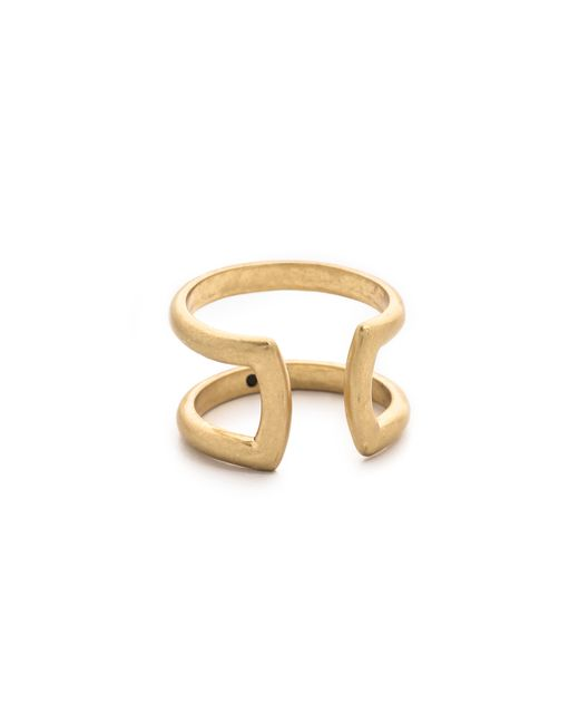 Madewell   Metallic Double Double Ring   Lyst