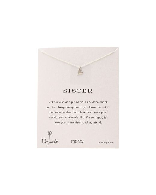 Dogeared | Metallic Sisters Happy Heart Reminder Necklace | Lyst