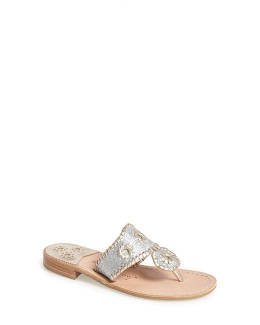 Jack Rogers | Metallic 'sparkle' Sandal | Lyst