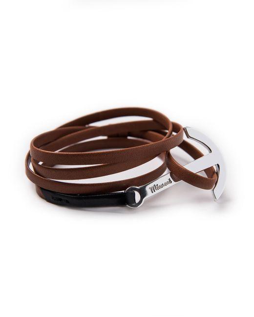 Miansai | Brown Men's Two-tone Leather Anchor Bracelet | Lyst