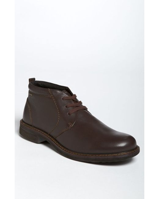 ecco turn chukka boot in brown for coffee leather