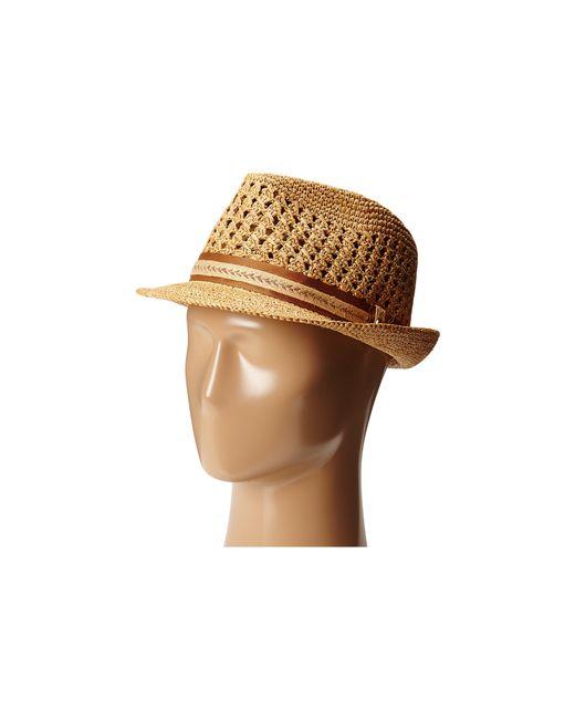 Tommy Bahama | Brown Vent Crochet Raffia Fedora for Men | Lyst