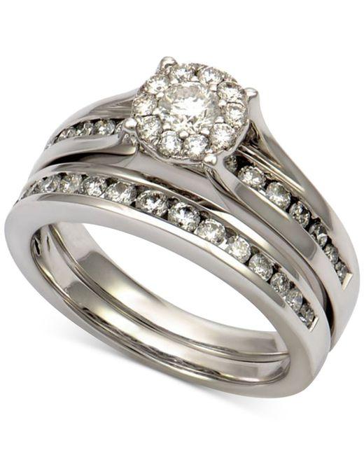Macy s Diamond Bridal Channel Set 1 Ct T w In 14k White Gold in White