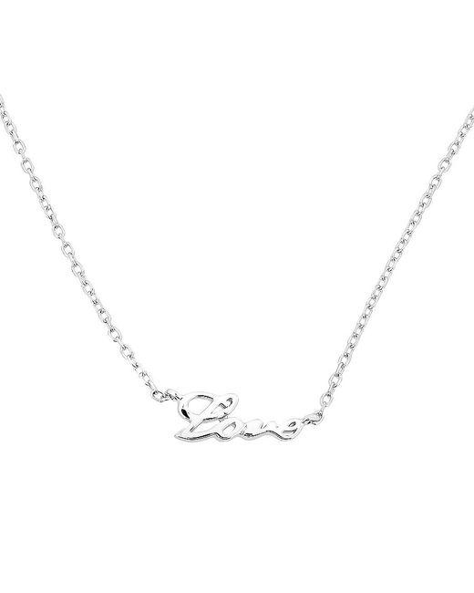 Azendi | Metallic Sterling Silver `love` Script Necklace | Lyst