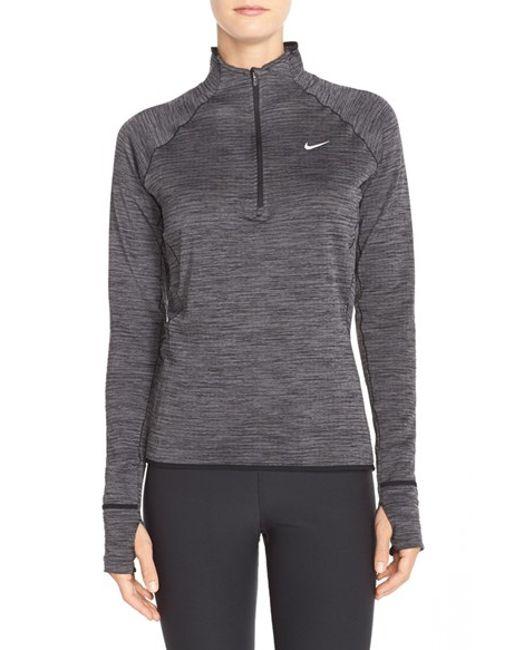 Nike 39 Element 39 Sphere Half Zip Running Shirt In Black Lyst