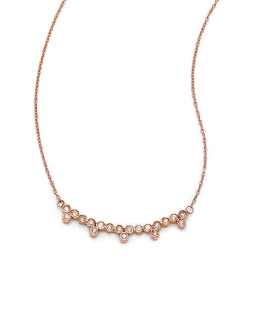Jacquie Aiche   Metallic Diamond & 14k Rose Gold Multi-bezel Necklace   Lyst