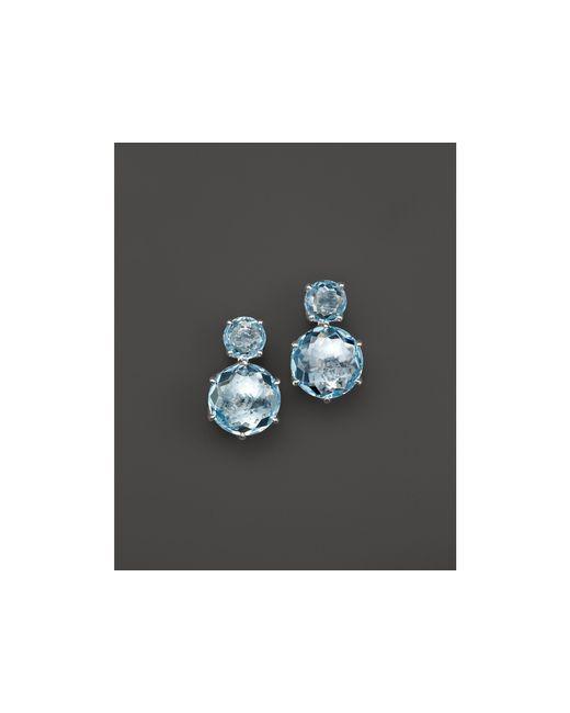 Ippolita | Rock Candy Sterling Silver 2-stone Post Earrings In Blue Topaz | Lyst