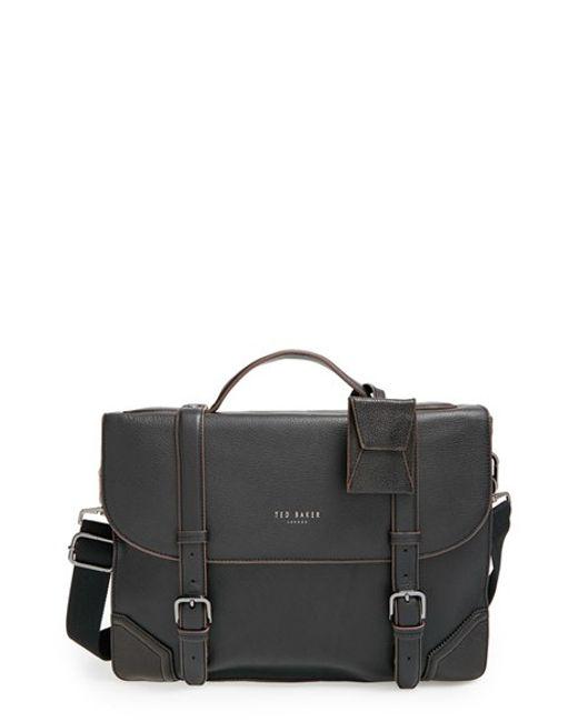 Ted Baker | Black Leather Briefcase for Men | Lyst