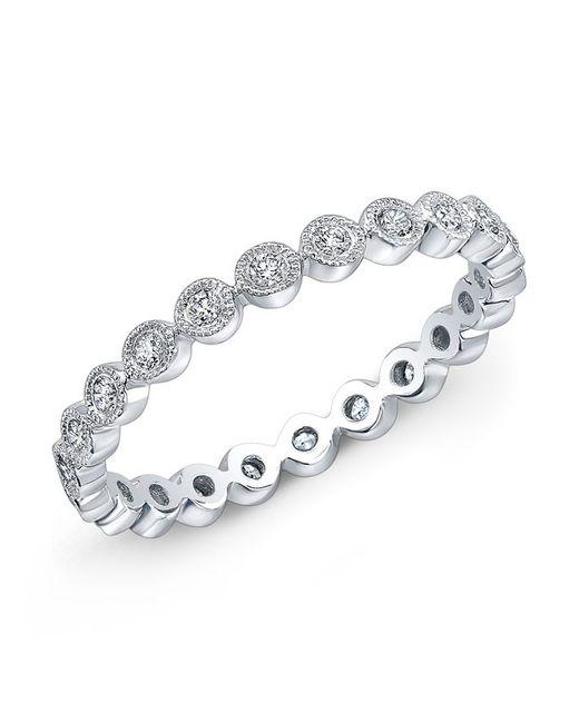 Anne Sisteron | Metallic 14kt White Gold Bezel Set Diamond Ring | Lyst