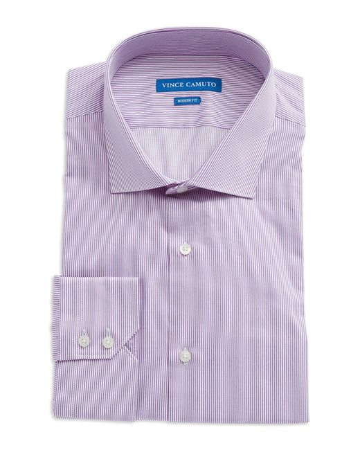 Vince Camuto | Purple Modern Fit Striped Dress Shirt for Men | Lyst