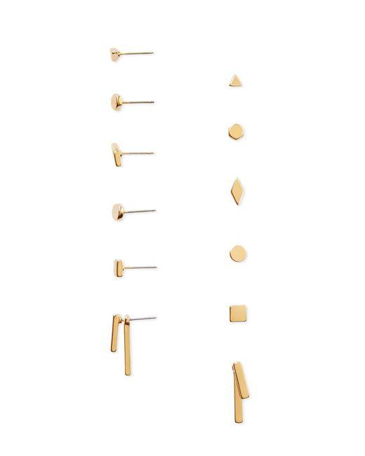 Forever 21 | Metallic Geo-shaped Stud Set | Lyst