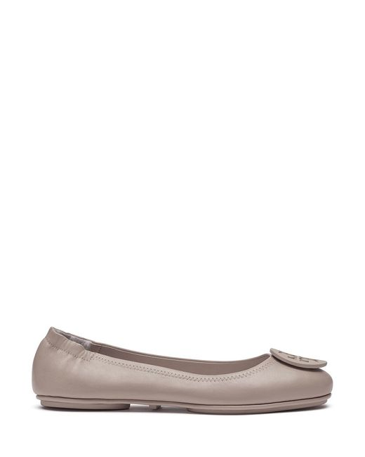 Tory Burch | Gray Minnie Travel Ballet Flat | Lyst
