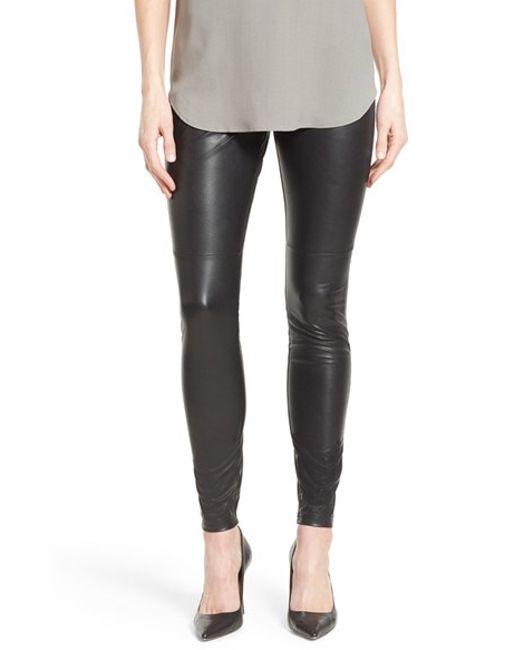Leather Black Leggings or Black Leatherette