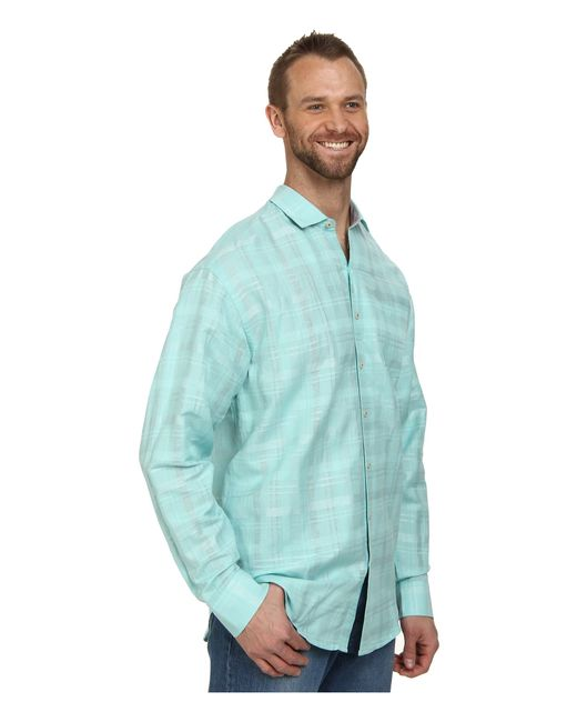 Tommy Bahama Big Amp Tall Squarely There L S Button Up In