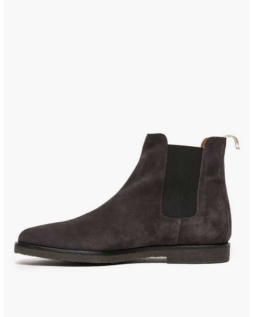 Common Projects Suede Chelsea Boots In Black For Men Lyst