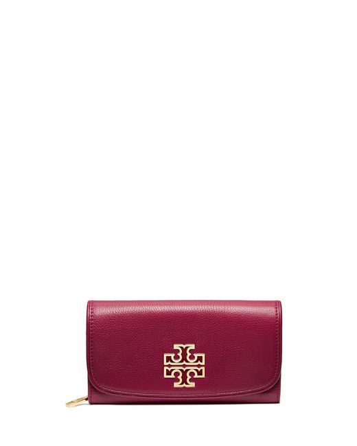 Tory Burch | Red Britten Duo Envelope Continental Wallet | Lyst