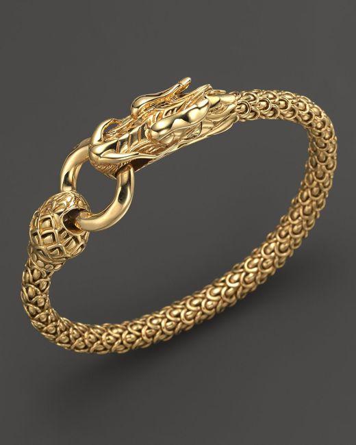 John Hardy Naga 18k Yellow Gold Dragon Bracelet With Gold