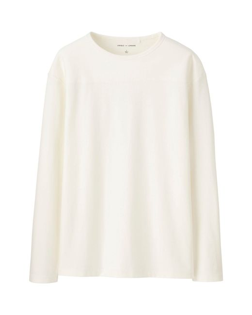 Uniqlo Men Lemaire Boat Neck Long Sleeve T Shirt In Beige