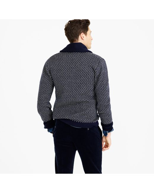 J.Crew | Blue North Sea Clothing Intrepid Cardigan Sweater for Men | Lyst