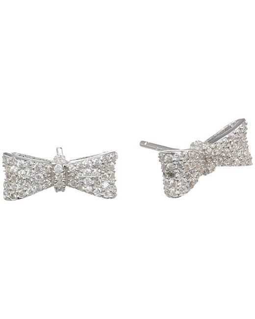 King Baby Studio | Metallic Bow Post Earring Pave Cz | Lyst