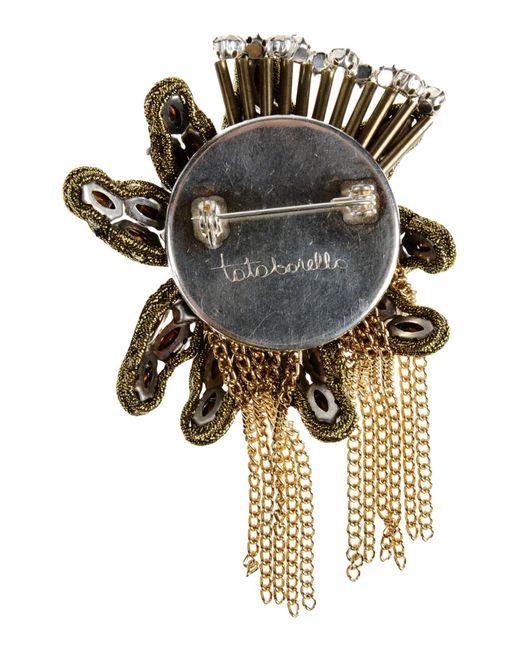 Tataborello | Metallic Brooch | Lyst