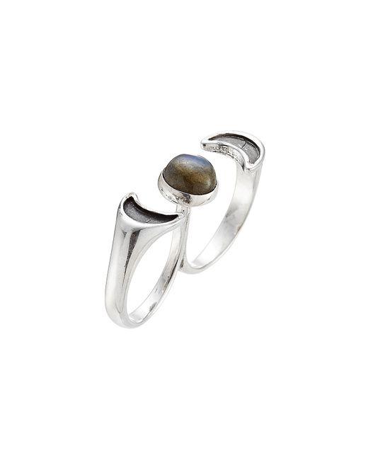 Pamela Love | Metallic Luna Two Finger Ring With Labradorite | Lyst