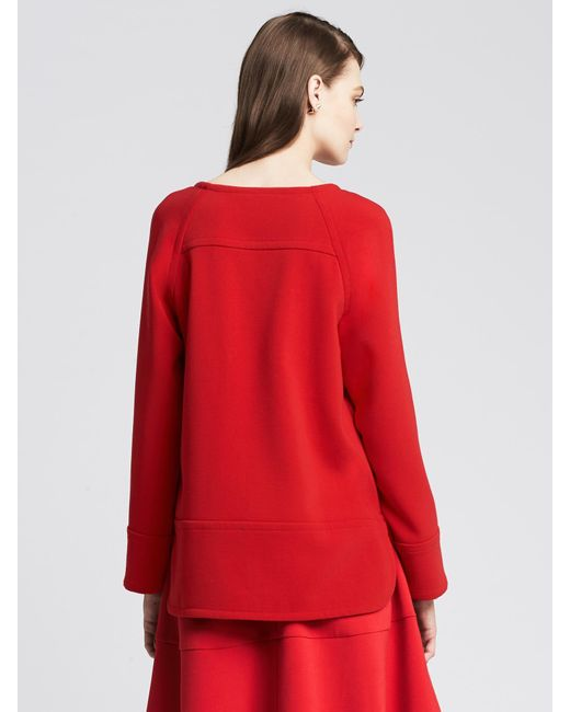 Banana Republic   Red Boatneck Top   Lyst