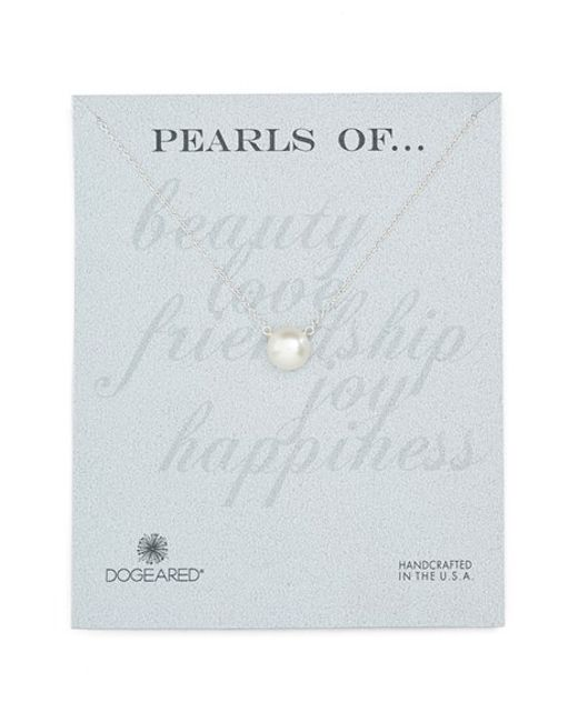 Dogeared | White Freshwater Pearl Pendant Necklace | Lyst