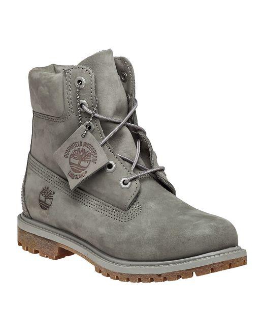 Timberland Premium 6-Inch Nubuck Boots in Gray