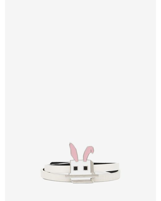 McQ | Pink Electro Bunny Mini Wrap Bracelet | Lyst