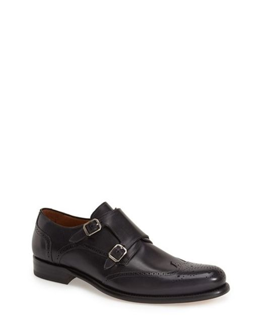 Mezlan | Gray 'coruna' Double Monk Strap Shoe for Men | Lyst